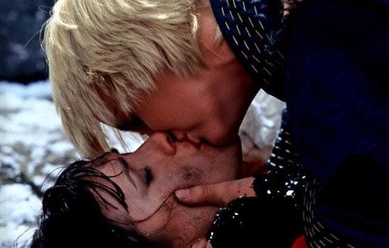 """It's not a kiss, it's """"water transfer."""""""