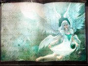 Made from old book by Kuroro7 and Angel by lian-blackdream.  Available under CC-BY-SA 3.0.