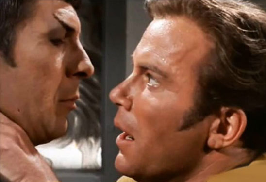 Star Trek: The Original Series started the slash movement, partly because of the copious amount of subtext between Kirk and Spock.