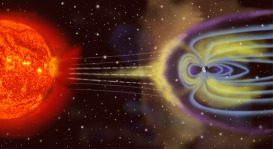 The Earth's magnetic field would only look like this if you could actually see magnetic field lines and the solar wind.