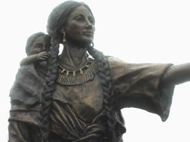 Sacagawea, without whom Lewis and Clark would have been hopelessly lost.