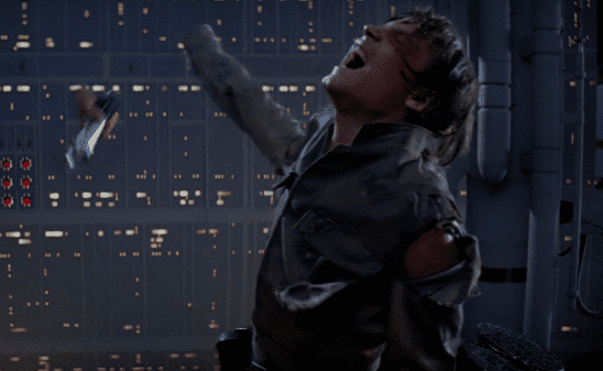 Vader's dismemberment of Luke shows that Luke is outmatched and in danger