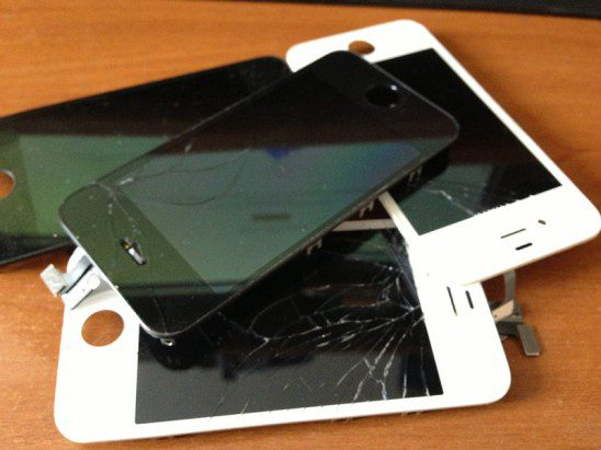 Broken apple iphone 4s display