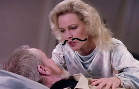 In Star Trek: The Next Generation Season 1, an old flame of Captain Picard consoles his wife after the enterprise rescues her from her dangerous experiments.