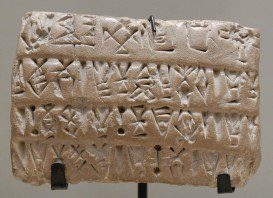 Sumerian Accounting Tablet