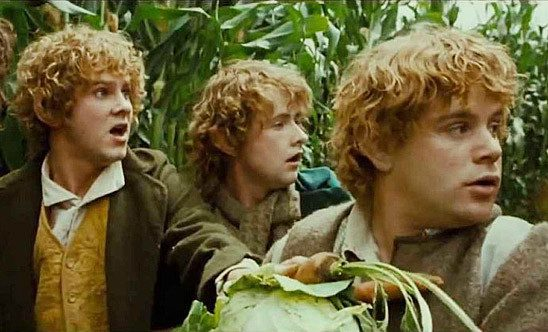 The hobbits realize they are in deep trouble.