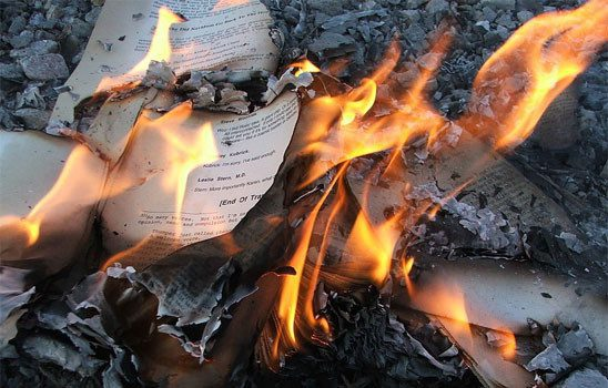 books burning