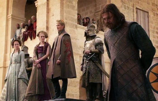 The famous execution scene in Game of Thrones.