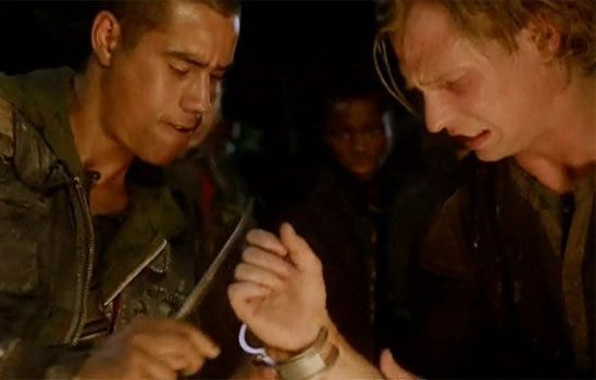 In the tv show The 100, teenagers that are sent away defiantly remove the wristbands put on them as a way of tracking their vital signs.