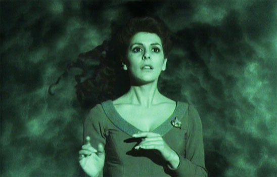 Deanna Troi in a cloudy dream