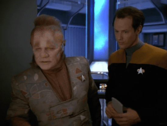 Neelix and a goldshirt.
