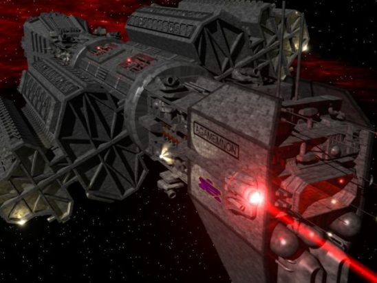 An Omega Class Destroyer from Babylon Five