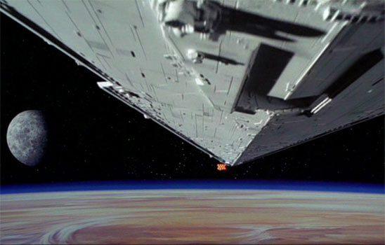 Star Wars Cruiser Over Planet