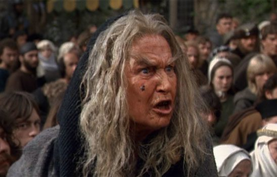 Old woman booing Buttercup in the Princess Bride