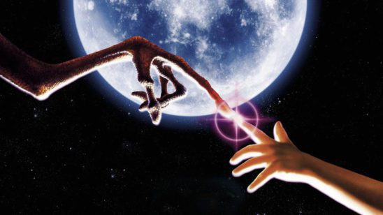 The finger touch from ET.