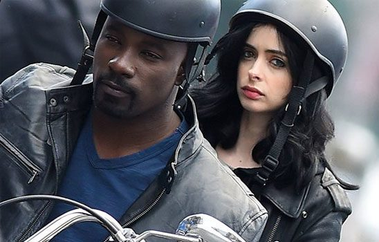 Jessica Jones and Luke Crane on motorcycle