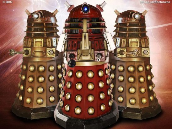 Three daleks.