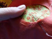 Sewing a patch