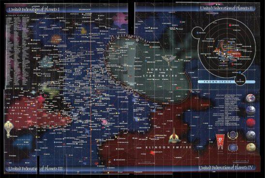 Map of the Star Trek universe.