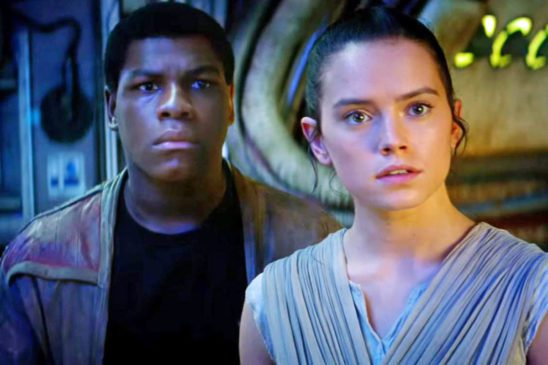 Finn and Rey from Star Wars.