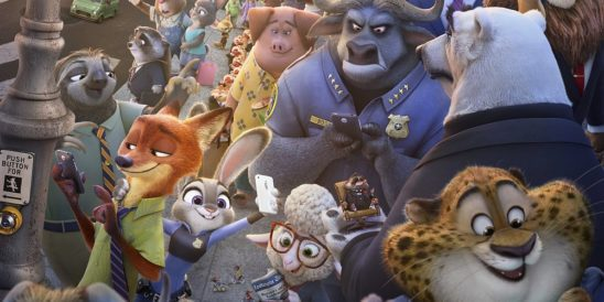 A collage of characters from Zootopia.