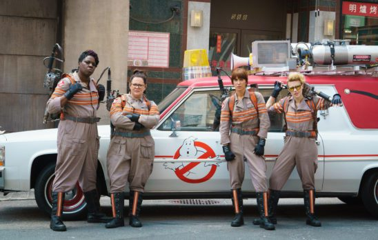 The cast of the new Ghostbusters film.