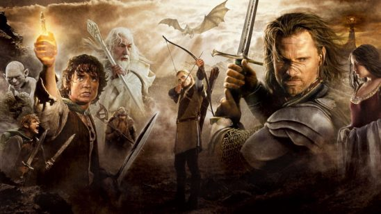 A collage of Lord of the Rings Characters.