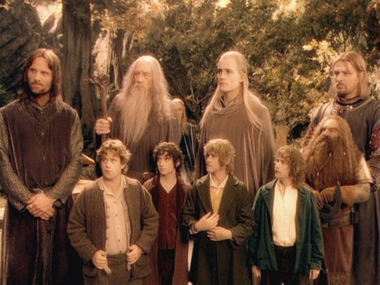 The main characters from the Fellowship of the Ring