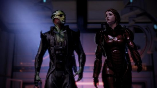 Shepard talking to Thane.