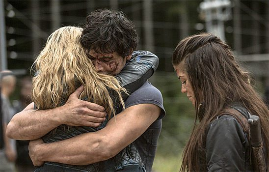 In the 100, Clarke and Octavia encourage Bellamy to be a better person.