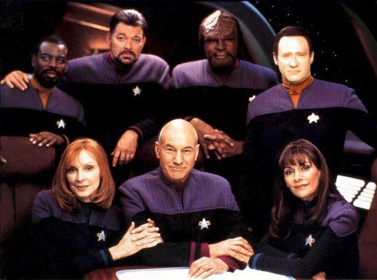 The Next Generation main cast.