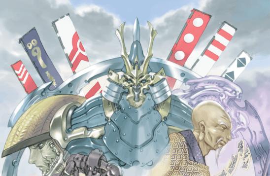 A giant robot from Tenra Bansho Zero.