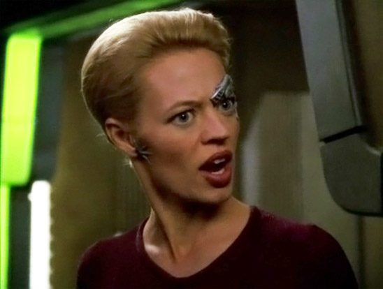 Seven of Nine looking irate
