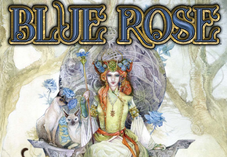A queen on the cover of Blue Rose.