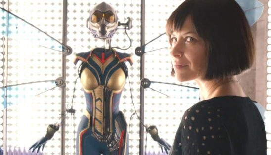 Hope getting her Wasp suit in Ant Man