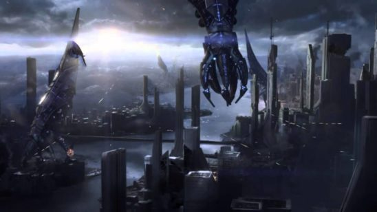 Reapers attack Earth in Mass Effect