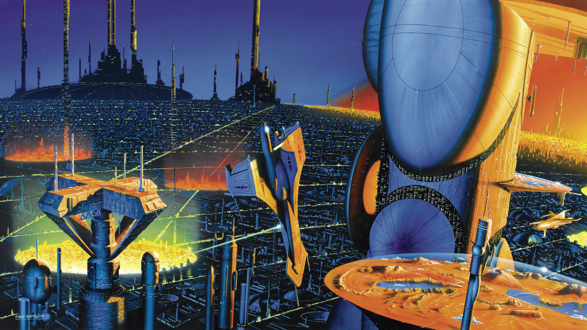 A futuristic city from the Foundation.