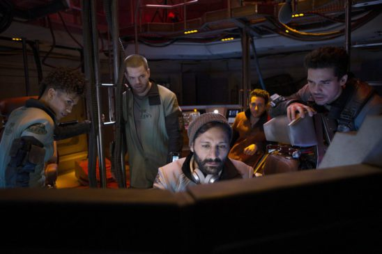 The crew works on the computer in The Expanse