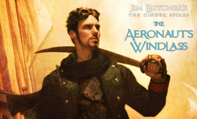 Title art feautring a man with a cutlass from the Aeronaut's Windlass.