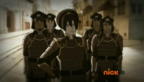 Toph and her metalbending police.