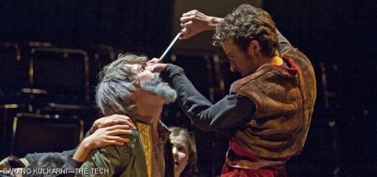 Gloucester from King Lear, about to lose his eyes.