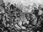 Medieval Knights Engaged in Combat