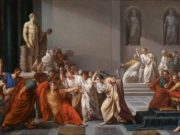 The assassination of Julius Caesar.