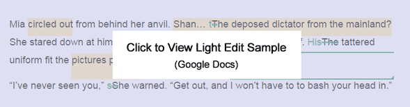 Click to View Light Edit Sample (Google Docs)
