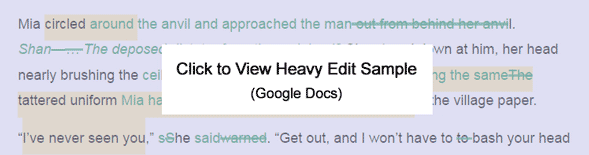 Click to View Heavy Edit Sample (Google Docs)