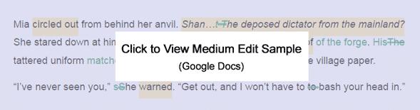 Click to View Medium Edit Sample (Google Docs)