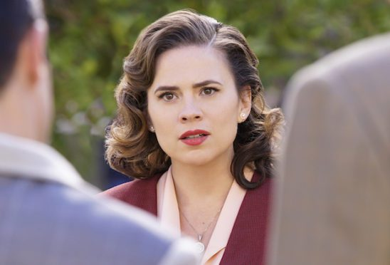 Agent Carter looking surprised.