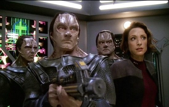 Garak, Damar, and Kira in Deep Space 9