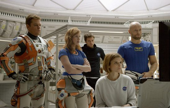The crew of the Hermes in The Martian