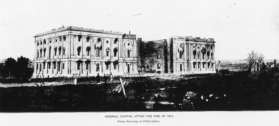 The original capital after being burned by in 1814.
